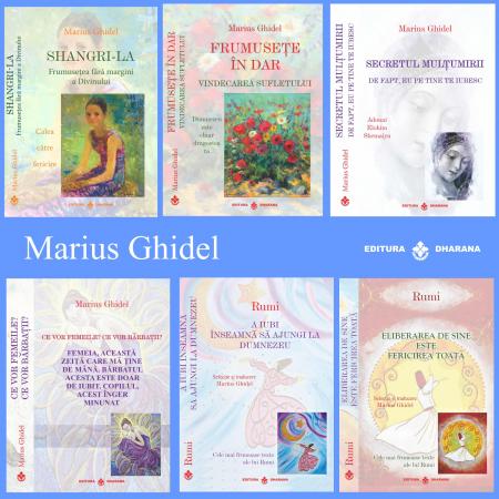 Pachet 6 carti Marius Ghidel si Rumi -  Selectie si Traducere de Marius Ghidel