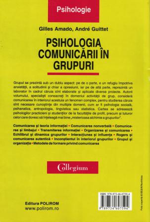 Psihologia comunicarii in grupuri - Gilles Amado, Andre Guitten [1]