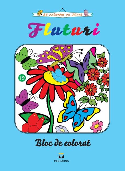 Fluturi - carte de colorat 0
