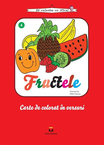 Fructele - carte de colorat 0