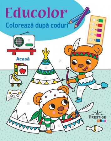 Educolor Coloreaza dupa Coduri: Acasa [0]