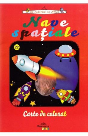 Nave Spatiale - carte de colorat