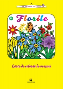 Florile - carte de colorat0