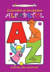 Coloram si invatam alfabetul - carte de colorat