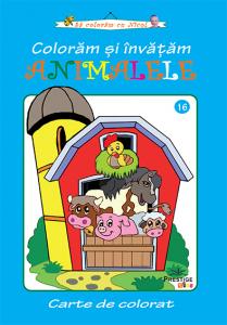 Coloram si invatam animalele - carte de colorat