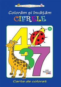 Coloram si invatam cifrele - carte de colorat