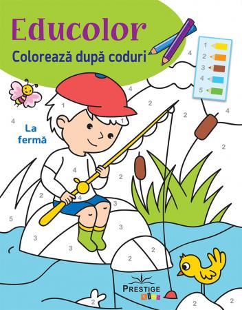 Coloreaza dupa Coduri: La Ferma