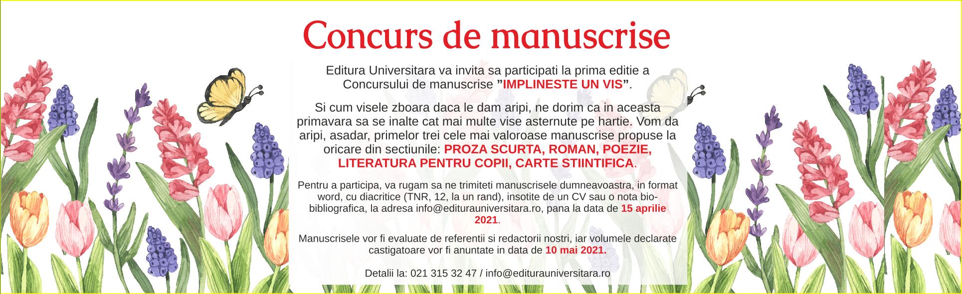 Concurs de manuscrise - 2