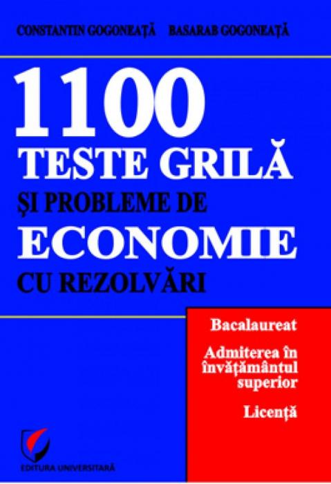 1100 Teste grila si probleme de economie cu rezolvari 0