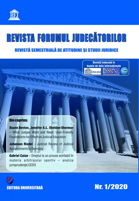 Revista Forumul Judecatorilor - Nr. 1/2020 [0]
