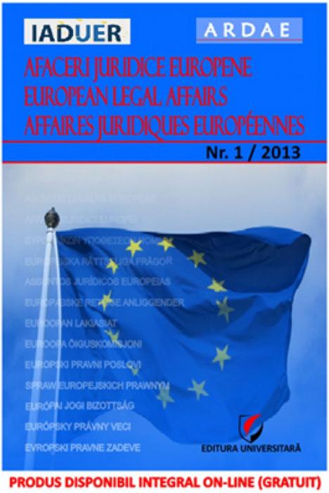 Afaceri juridice europene, 1/2013 [0]