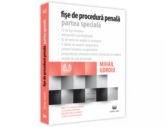 Criminal procedure sheets. Special part 4th Edition, revised and added - Mihail Udroiu [0]