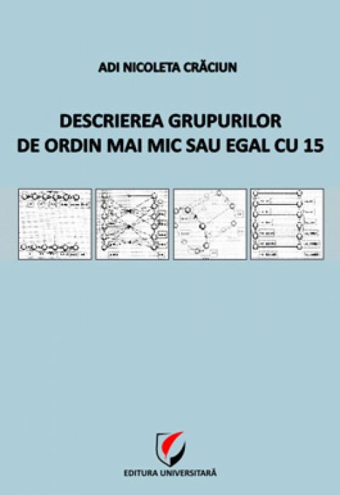 Descrierea grupurilor de ordin mai mic sau egal cu 15 [0]