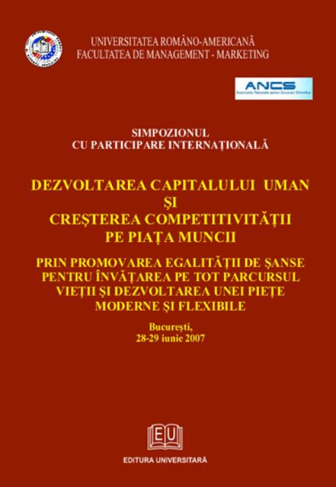 Dezvoltarea capitalului uman şi creşterea competitivităţii pe piaţa muncii 0
