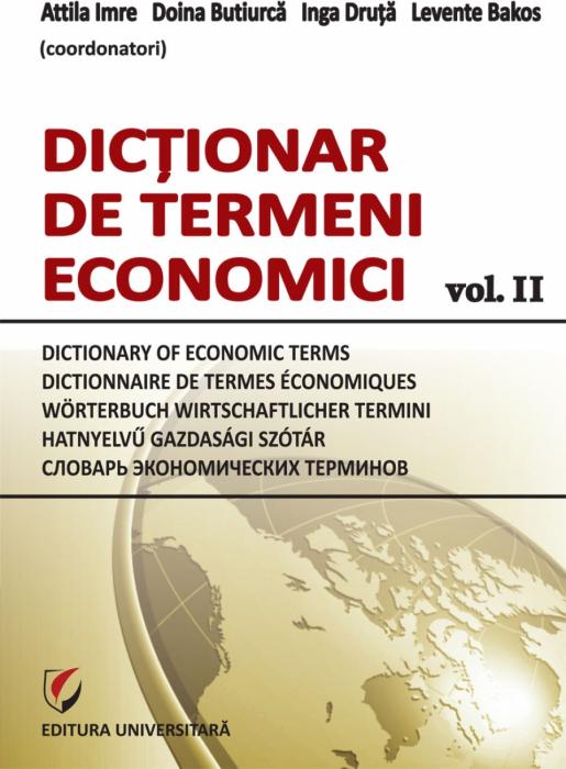 Dictionar de termeni economici, vol. II 0