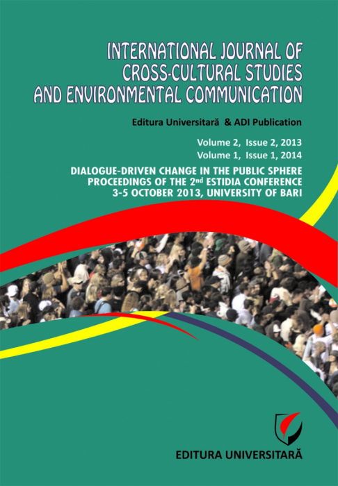 International Journal of Cross-Cultural Studies and Environmental Communication (JCCSEC), Volume 2, Issue 2, 2013, Volume 1, Issue 1, 2014 0