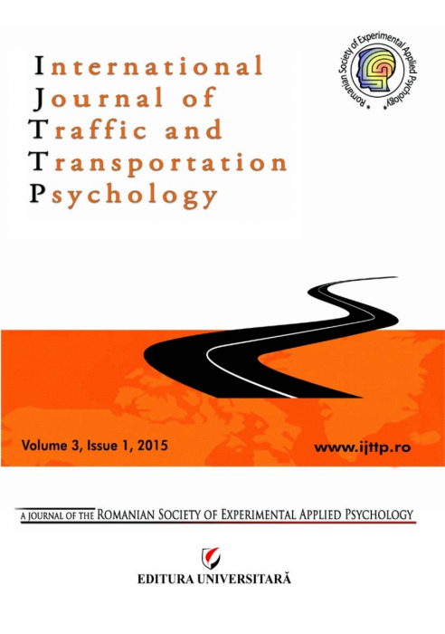 International Journal of Traffic and Transportation Psychology, Volume 3, Issue 1, 2015 0