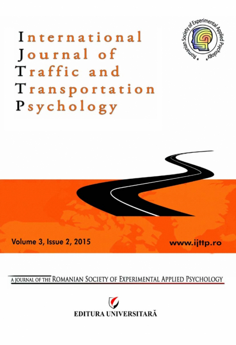 International Journal of Traffic and Transportation Psychology, Volume 3, Issue 2, 2015 0