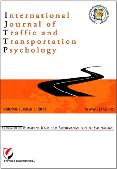 International Journal of Traffic and Transportation Psychology, Volume I, Issue 1, 2013 0