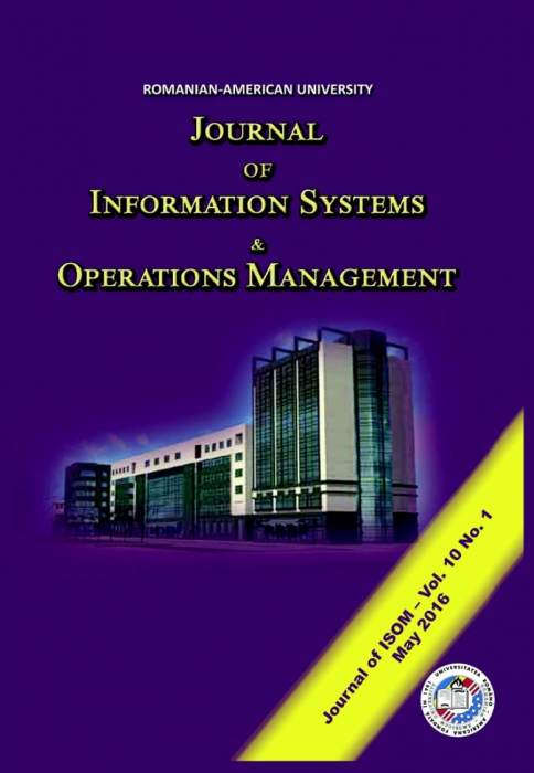 Journal of Information Systems & Operations Management, vol. 10, no. 1/ May 2016 [0]