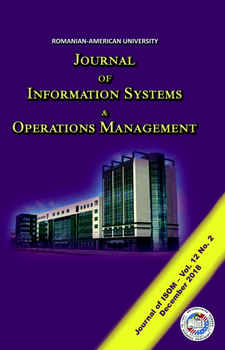Journal of Information Systems & Operations Management, vol. 12, no. 2/ December 2018 0