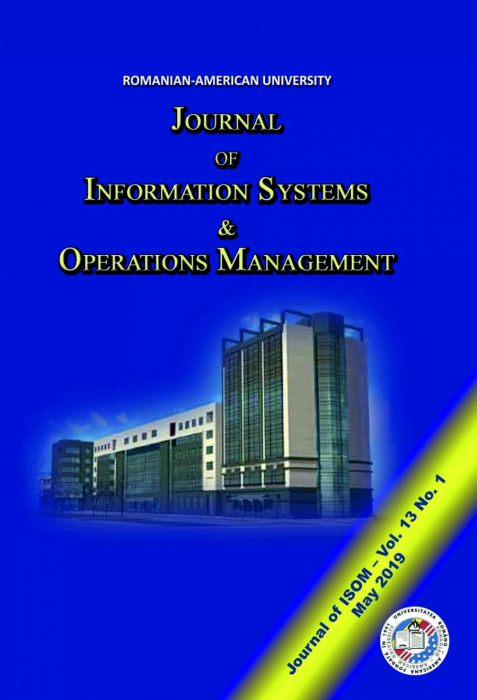 Journal of Information Systems & Operations Management, vol. 13, no. 1/ May 2019 0