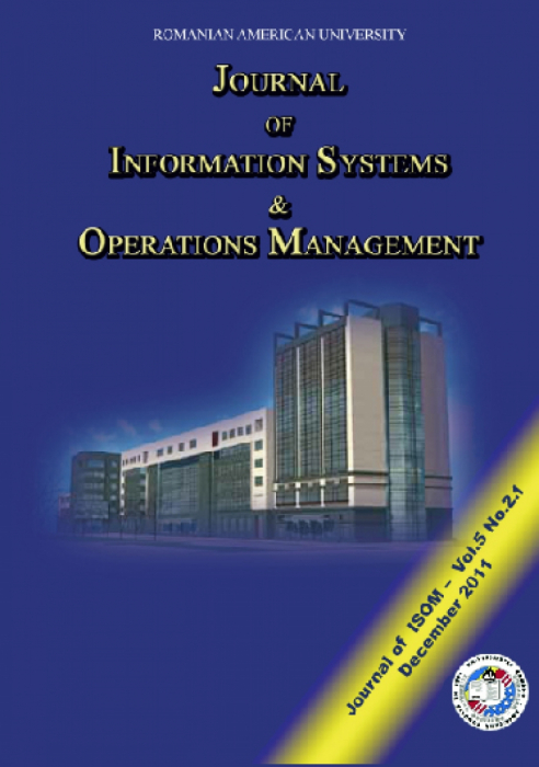 Journal of Information Systems & Operations Management, vol. 5, No. 2.1, December 2011 [0]
