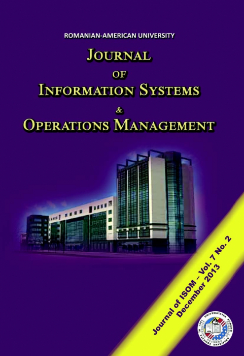Journal of Information Systems & Operations Management, vol. 7, no. 2/ December 2013 0
