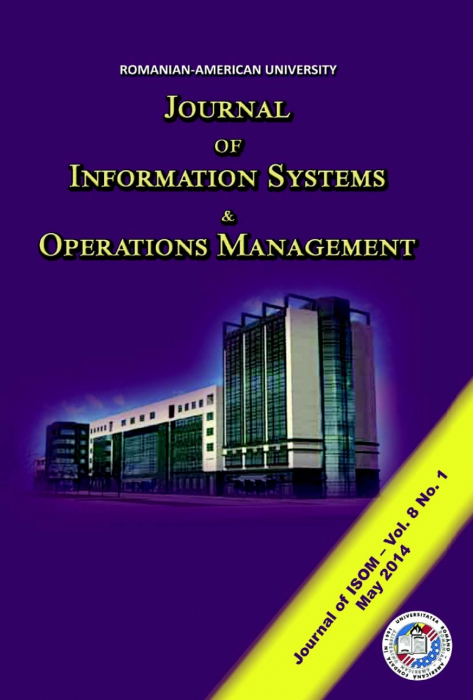 Journal of Information Systems & Operations Management, vol. 8, no. 1/ May 2014 0