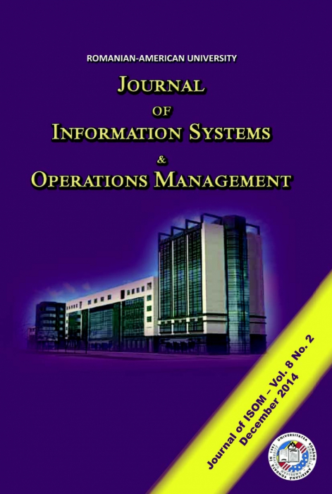 Journal of Information Systems & Operations Management, vol. 8, no. 2/ December 2016 0
