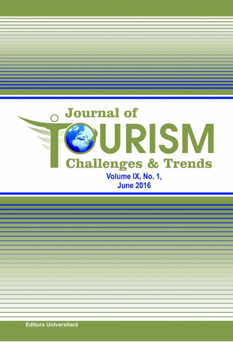 Journal of Tourism Challenges and Trends, vol.IX, Nr. 1, June 2016 0
