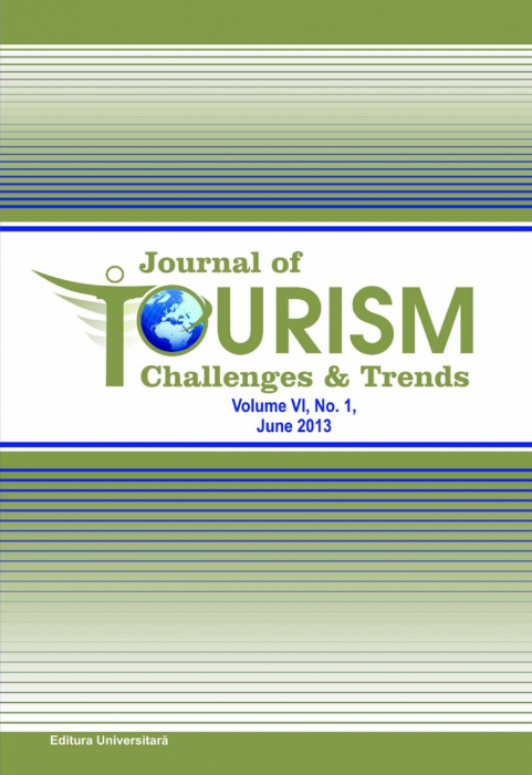 Journal of Tourism Challenges and Trends, vol.VI, Nr. 1, June 2013 0