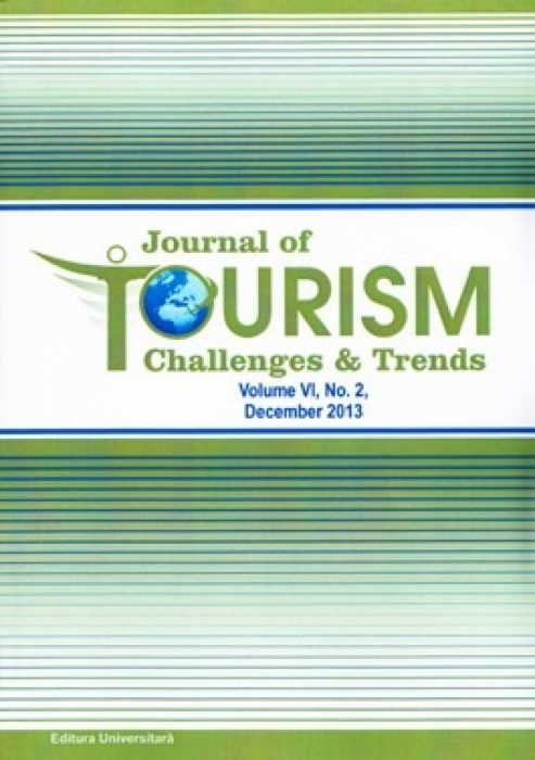 Journal of Tourism Challenges and Trends, vol.VI, No. 2, December 2013 0