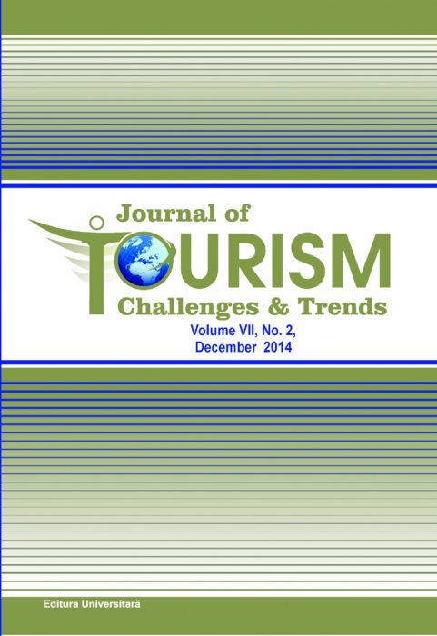 Journal of Tourism Challenges and Trends, vol.VII, Nr. 2, Decembrie 2014 0