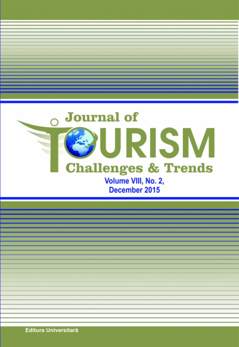 Journal of Tourism Challenges and Trends, vol.VII, Nr. 2, Decembrie 2015 0