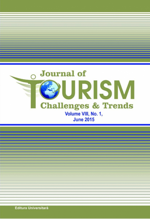 Journal of Tourism Challenges and Trends, vol.VIII, Nr. 1, June 2015 0