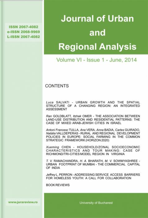 Journal of Urban and Regional Analysis,Volume VI, Issue 1 - June 2014 [0]