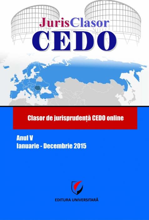 JurisClasor ECHR - ECHR case law classes online, Year V, January-December 2015 0