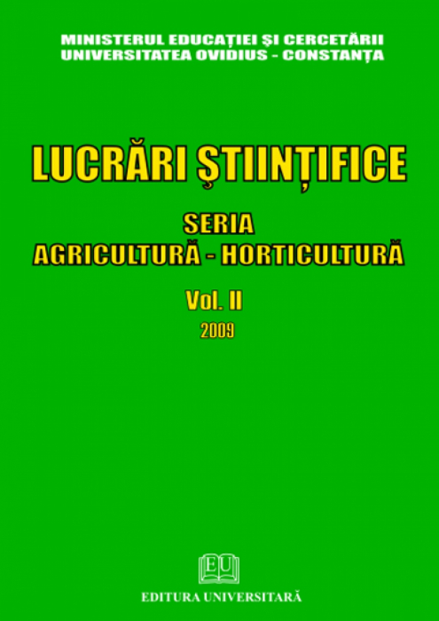 Scientific Papers - Series Agriculture - Horticulture - Volume II - 2009 0