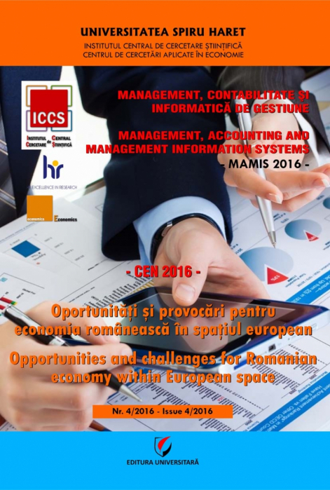 MAMIS 2016 - Management, accounting and management information systems 0