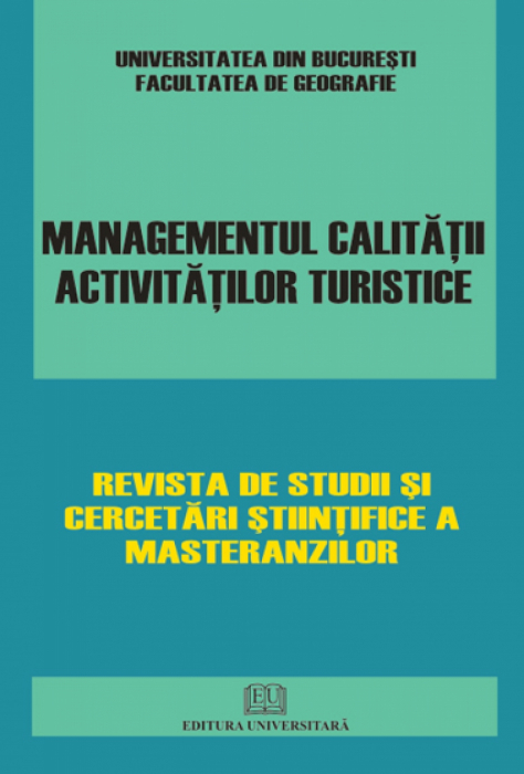 Quality management of tourism activities 0