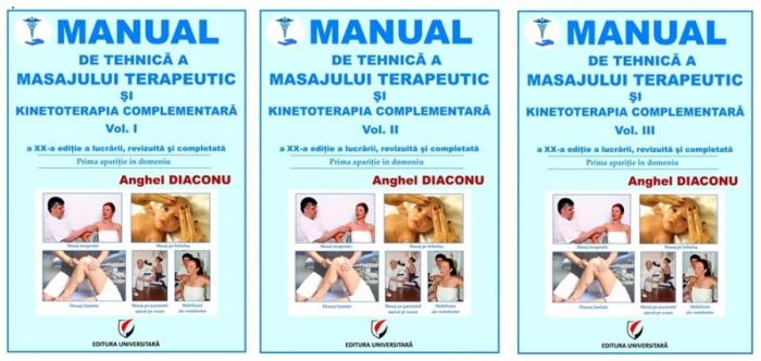 MANUAL DE TEHNICA A MASAJULUI TERAPEUTIC SI KINETOTERAPIA COMPLEMENTARA. Vol. I - III, ed. XX [0]