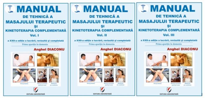 MANUAL DE TEHNICA A MASAJULUI TERAPEUTIC SI KINETOTERAPIA COMPLEMENTARA. Vol. I-III, editia a XXII -a 0