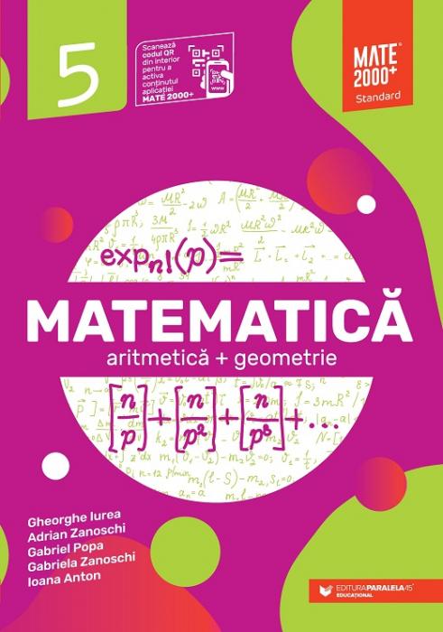 Matematica. Aritmetica, geometrie. Clasa a V-a. 2021 - 2022 Standard [0]