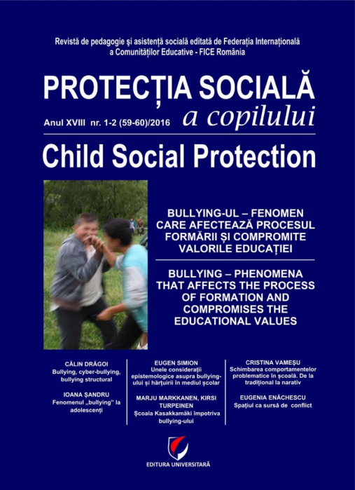 Protectia sociala a copilului, Anul XVII-NR. 1-2(59-60)/2016 0
