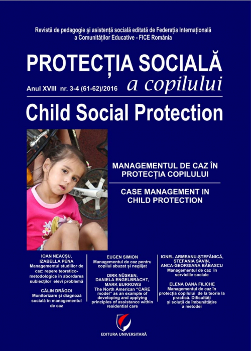 Child Social Protection. Year XVIII-No. 3-4(61-62)/2016 0