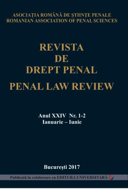 Revista de Drept Penal, anul XXIII, nr. 1-2, ianuarie-iunie 2017 [0]