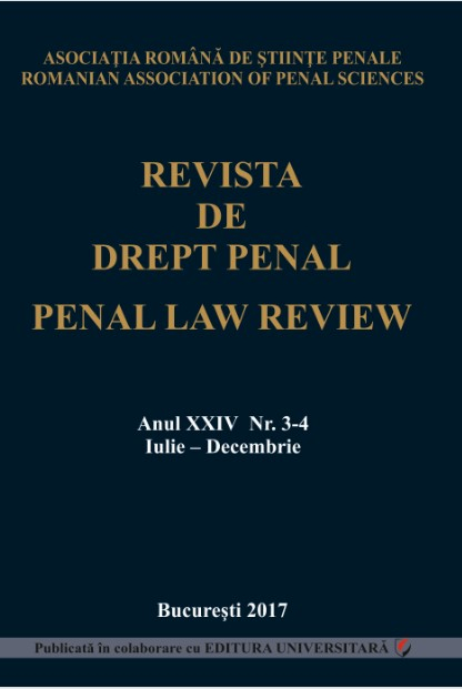 Penal Law Review, vol. XXIV, Issue 3-4, July-December 2017 [0]