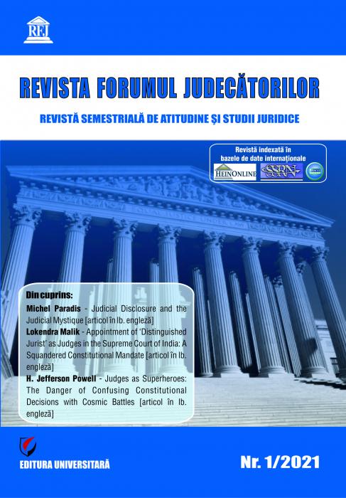 Revista Forumul Judecatorilor - Nr. 1/2021 [0]