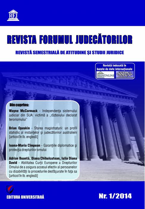 Revista Forumul Judecatorilor - nr. 1/2014 [0]